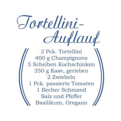 Graz Design Wandtattoo Torteliniauflauf, Rezept