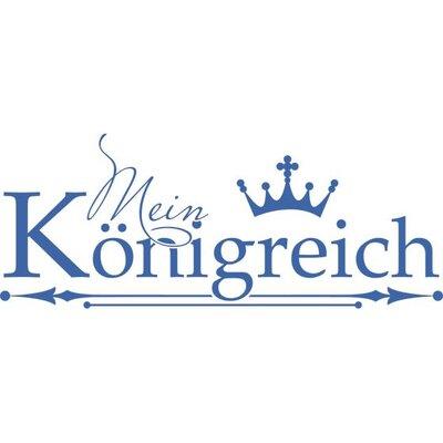 Graz Design Wandtattoo Mein Königreich, Krone
