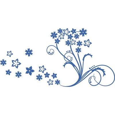 Graz Design Wandtattoo Blumenornament, Blüten
