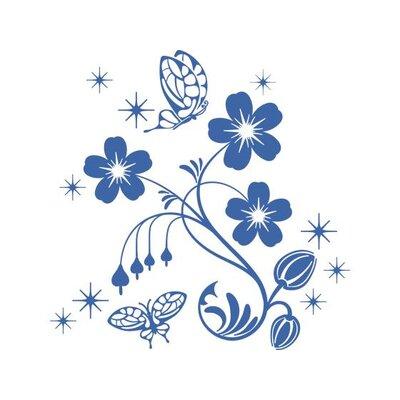 Graz Design Wandtattoo Blumen Schmetterlinge