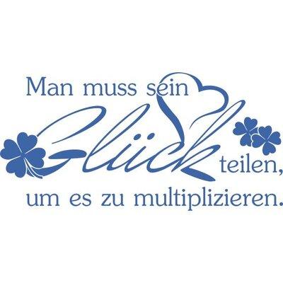 Graz Design Wandtattoo Man muss Glück