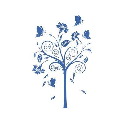 Graz Design Wandtattoo Baum, Falter, Blumen
