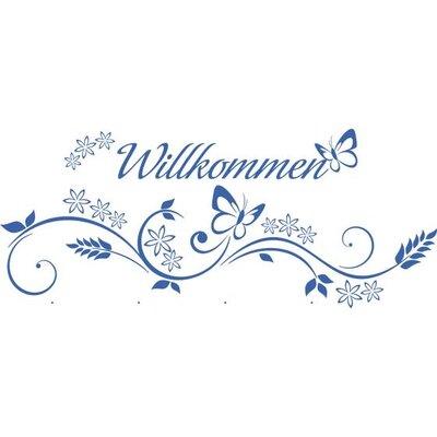 Graz Design Garderobenhaken Willkommen, Schmetterlinge, Blumen