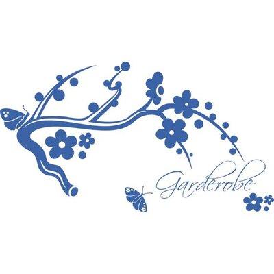 Graz Design Garderobenhaken Ast, Blumen, Schmetterlinge