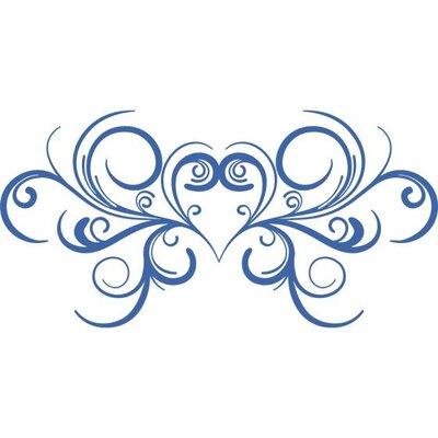 Graz Design Wandtattoo Herz, Ornamente