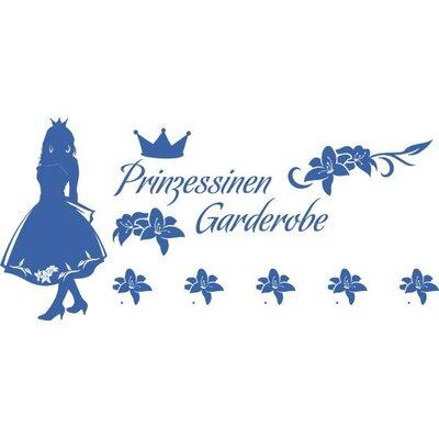 Graz Design Garderobenhaken Prinzessin, Krone, Blumen