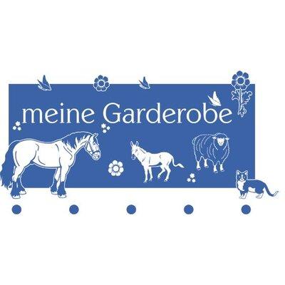 Graz Design Garderobenhaken Bauernhof, Pferd, Schaf, Esel, Tier