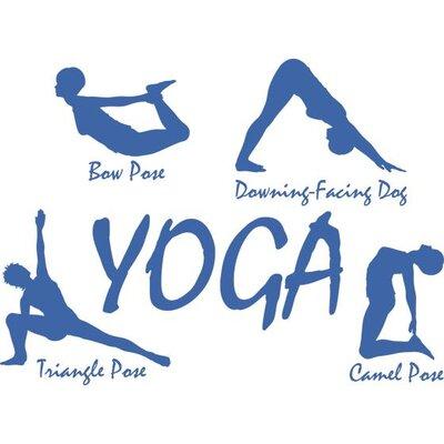 Graz Design Wandtattoo Yoga Pose