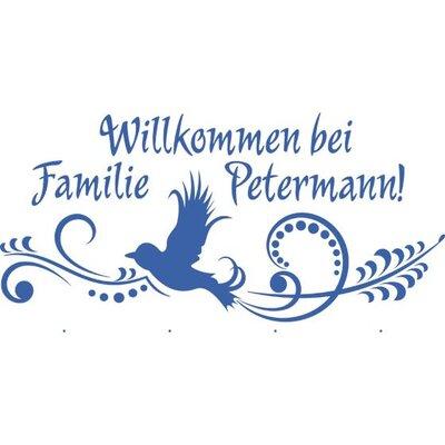 Graz Design Garderobenhaken Willkommen bei Familie, Wunschname