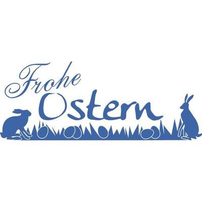Graz Design Wandtattoo Frohe Ostern, Hasen, Eier, Wiese