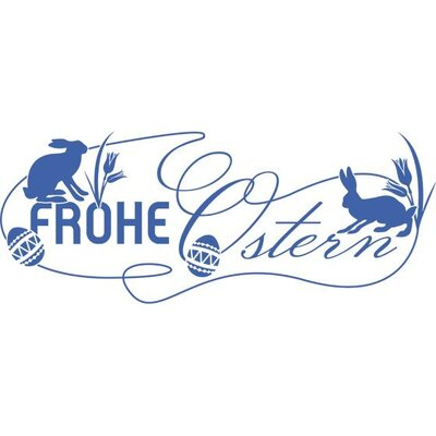 Graz Design Wandtattoo Frohe Ostern, Hasen, Blumen, Eier
