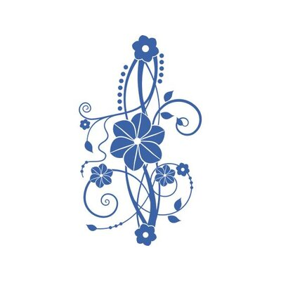 Graz Design Wandtattoo Blumenornament Ranke