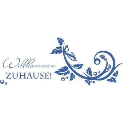 Graz Design Garderobenhaken Willkommen Zuhause, Ornamente, Blätter