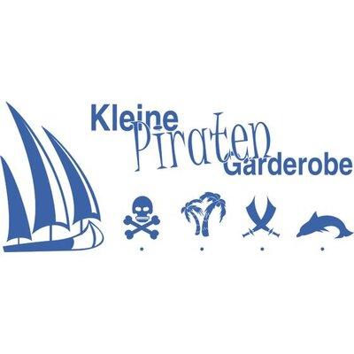 Graz Design Garderobenhaken Piraten, Schiff, Palme, Schwert