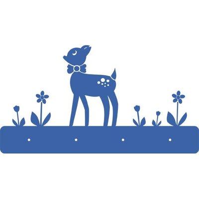 Graz Design Garderobenhaken Rehkitz mit Blumen