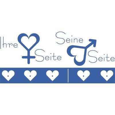 Graz Design Garderobenhaken Ihre Seite, Seine Seite, Herzen