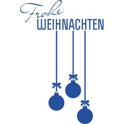 Graz Design Wandtattoo Frohe Weihnachten, Kugeln