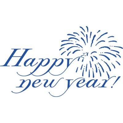 Graz Design Wandtattoo Happy New Year, Feuerwerk