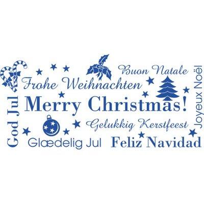 Graz Design Wandtattoo Weihnachten, Merry Christmas, God Jul