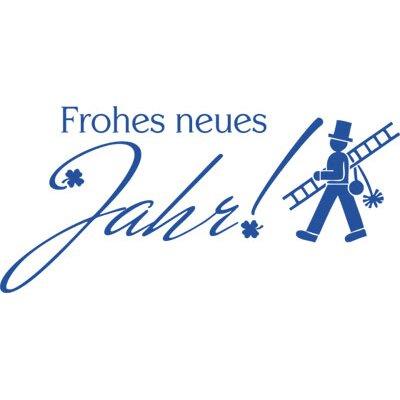 Graz Design Wandtattoo Frohes Neues Jahr, Glücksklee
