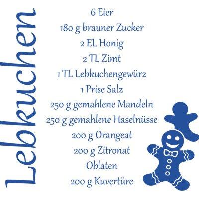 Graz Design Wandtattoo Weihnachten, Rezept für Lebkuchen, Lebkuchenmann