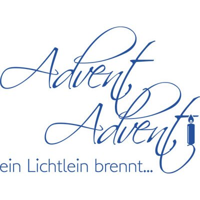Graz Design Wandtattoo Advent Advent ein Lichtlein