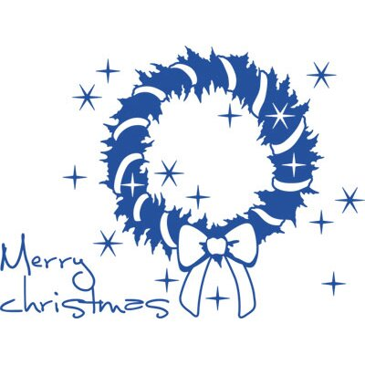 Graz Design Wandtattoo Merry Christmas, Kranz