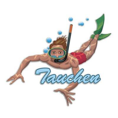 Graz Design Wandsticker Tauchen, Taucher