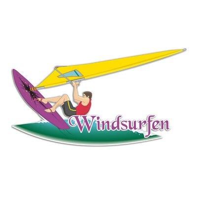 Graz Design Wandsticker Windsurfen