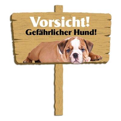 Graz Design Wandsticker Vorsicht! Gefährlicher Hund!