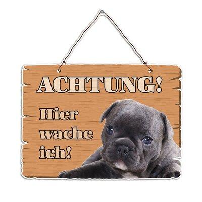 Graz Design Wandsticker Achtung! Hier wache ich!, Hund