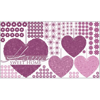 Graz Design Glastattoo-Set Home sweet home, Herzen