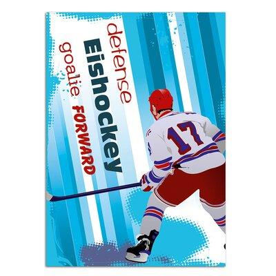 Graz Design Wandsticker Eishockey, Goalie