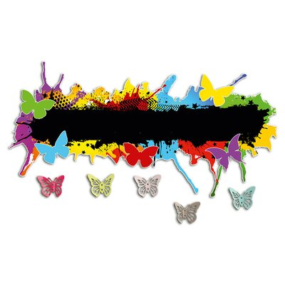 Graz Design Garderobenhaken Farbkleckse, Schmetterlinge