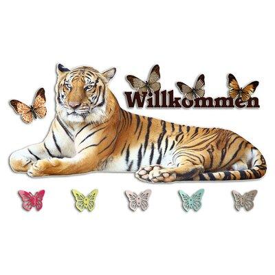 Graz Design Garderobenhaken Willkommen, Tiger