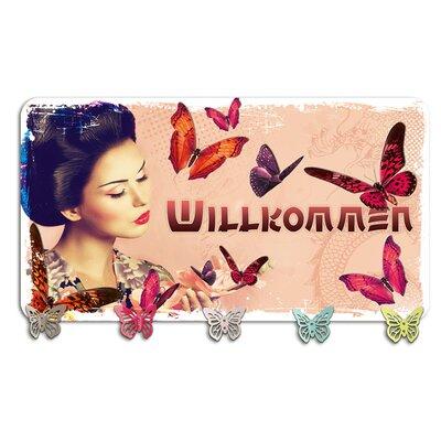 Graz Design Garderobenhaken Willkommen, Geisha