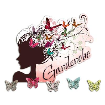 Graz Design Garderobenhaken Wandgarderobe, Frau