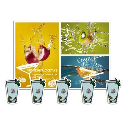 Graz Design Garderobenhaken Cocktails Glas