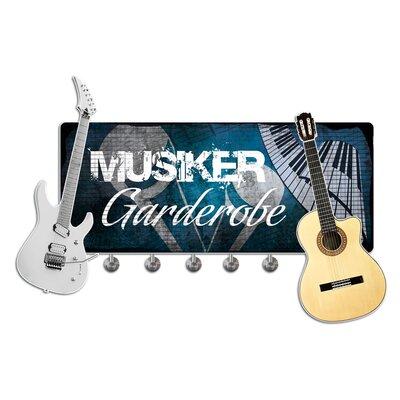 Graz Design Garderobenhaken Musiker, Gitarre