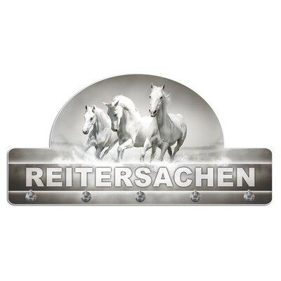 Graz Design Garderobenhaken Reitersachen, Pferd