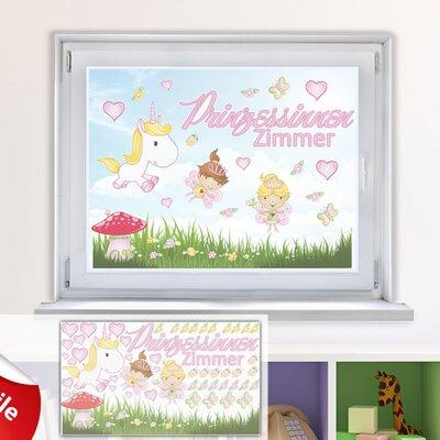 Graz Design Glastattoo-Set Prinzessinnen Zimmer