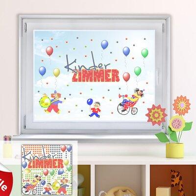Graz Design Glastattoo-Set Kinderzimmer, Clowns