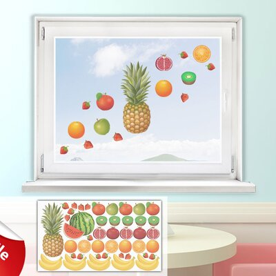 Graz Design Glastattoo-Set Obst, Ananas, Melone, Bananen, Kiwi
