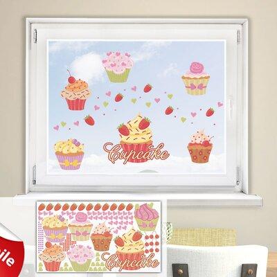 Graz Design Glastattoo-Set Cupcake, Muffin, Herzen