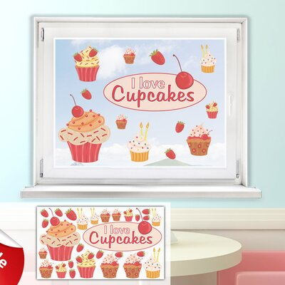 Graz Design Glastattoo-Set I love Cupcakes, Muffins