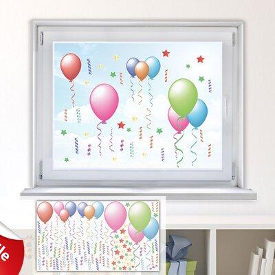 Graz Design Glastattoo-Set Luftballons, Sterne, Konfetti