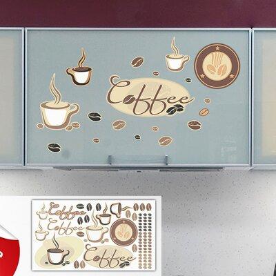 Graz Design Glastattoo-Set Coffee, Kaffee Tassen