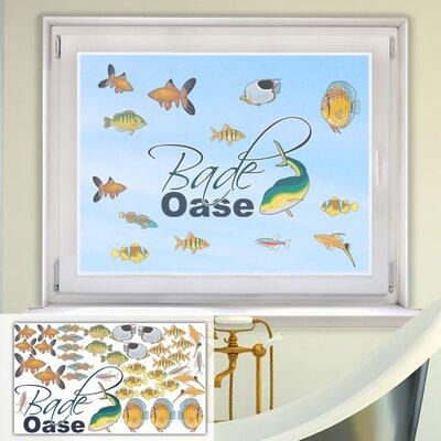 Graz Design Glastattoo-Set Bade Oase, Fische