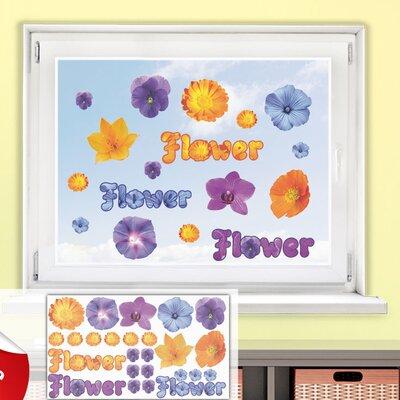Graz Design Glastattoo-Set Flower, Blumen