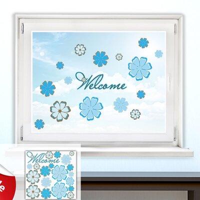 Graz Design Glastattoo-Set Welcome, Blumen